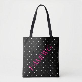 HAMbWG - Tote Bag - Black w Polka Dot