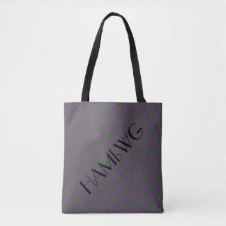 HAMbWG - Tote Bag - Gray w Any Color Polka Dot