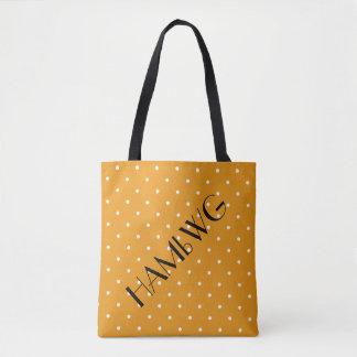 HAMbWG - Tote Bag - Orange w Polka Dot