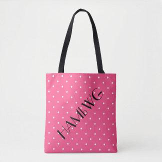 HAMbWG - Tote Bag - Pink w Polka Dot