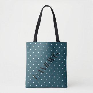 HAMbWG - Tote Bag - Teal Green w Polka Dot