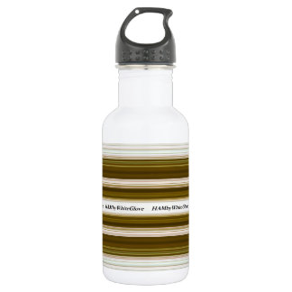 HAMbWG - Water Bottle - Olive  & White
