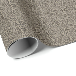 HAMbWG Wrapping Paper - Taupe Tiny Leopard Print
