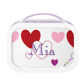 HAMbWG Yubo Lunch Box - Hearts Customize
