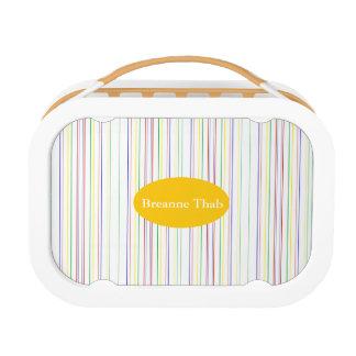 HAMbWG -  Yubo Lunch Box - Primary Fine Stripes