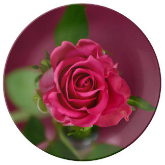 "HAMbyWG 10.75"" Porcelain Plate - Cherry Plum Rose"
