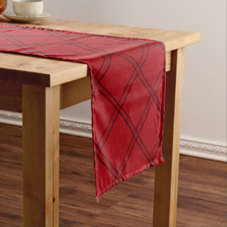 "HAMbyWG 14"" X 72"" Table Runner - Red Rose Plaid"