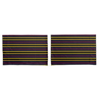 HAMbyWG - 2 S Pillowcases - Blk/Mar/Bl/Y Stripe
