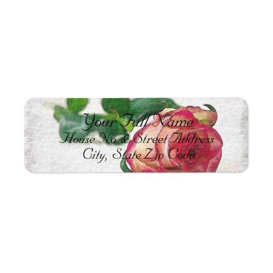 HAMbyWG - Address Labels - Single Rose