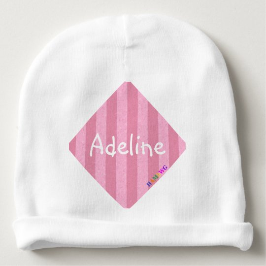 HAMbyWG - Baby Beanie - Light Pink Stripe