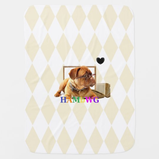 HAMbyWG - Baby Blanket - Bulldog Mugsy