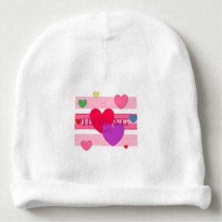 HAMbyWG Baby Cotton Beanie - Girl's Pink Stripe Baby Beanie