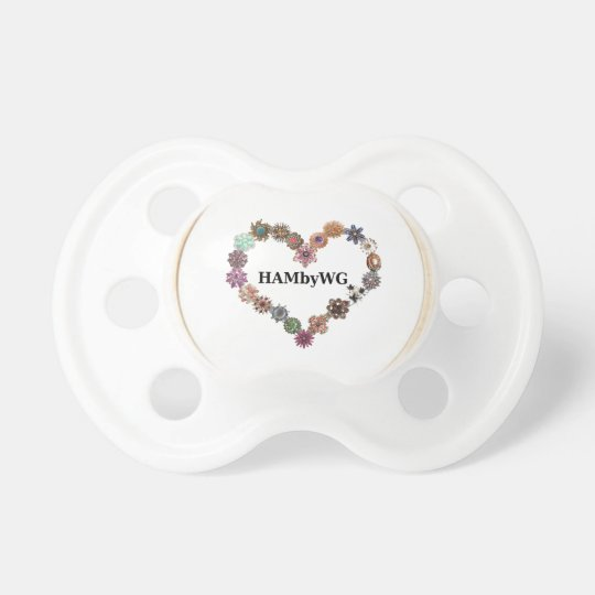 HAMbyWG Baby Pacifier - Jewelled Heart