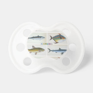 HAMbyWG - BooginHead® Pacifier -  Antique Fish