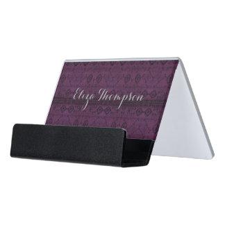 HAMbyWG Business Card Holder - India Ink Amethyst Desk Business Card Holder