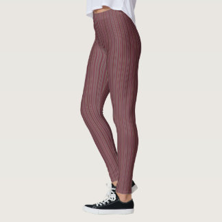 HAMbyWG - Compression Leggings - Wine Fine Stripe