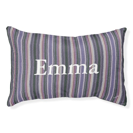 HAMbyWG Deep Lilac Hipster Stripe Dog Bed