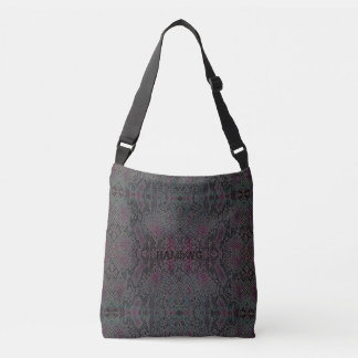 HAMbyWG Designed Tote Bags - Lizard Gray Pink Blue