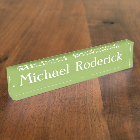 HAMbyWG - Desk Name Plate - Golf Green
