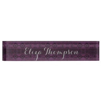 HAMbyWG - Desk Name Plate - India Ink Amethyst