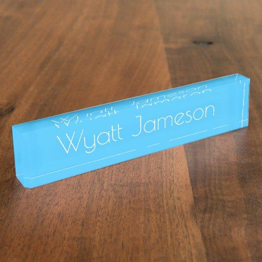 HAMbyWG - Desk Name Plate - Kid Blue