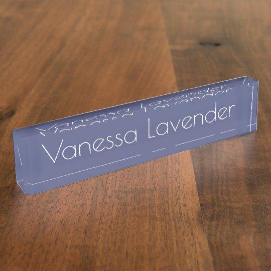 HAMbyWG - Desk Name Plate - Lavender