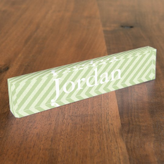 HAMbyWG - Desk Name Plate - Lime Stripe