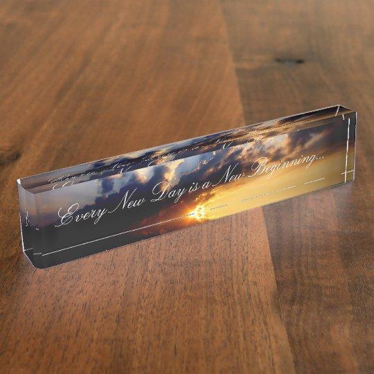 HAMbyWG Desk Name Plate - New Beginnings