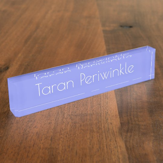 HAMbyWG - Desk Name Plate - Periwinkle