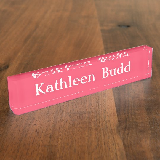 HAMbyWG - Desk Name Plate - Rose Pink