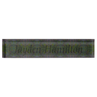 HAMbyWG - Desk Name Plate - Snake Green/Purple