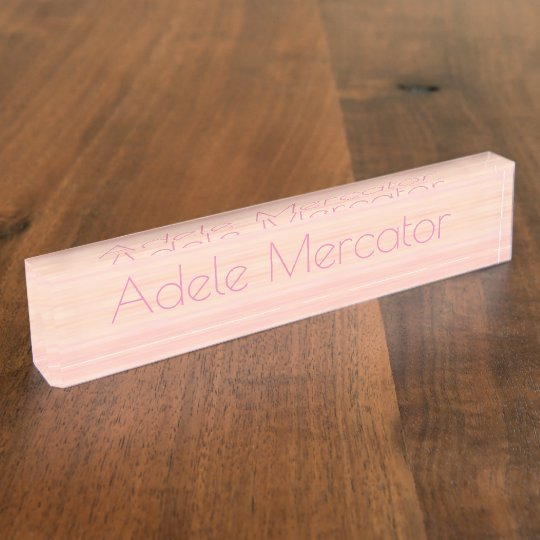HAMbyWG - Desk Name Plate - Washed Peachy-Pink