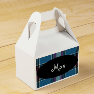 HAMbyWG - Favor Box -Plaid Personalized Party Favour Box