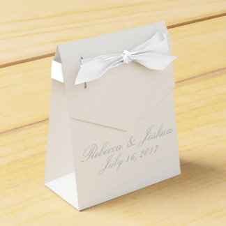 HAMbyWG - Favor Box w/Ribbon & Personalized