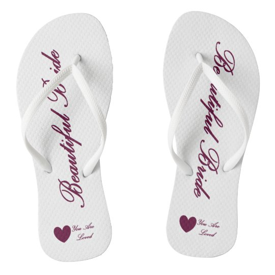 HAMbyWG - Flip-Flops - Beautiful Bride Flip Flops