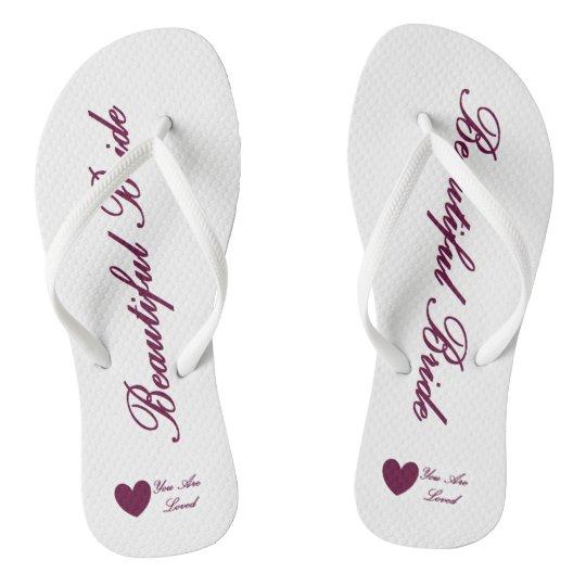 HAMbyWG - Flip-Flops - Beautiful Bride Flip Flops