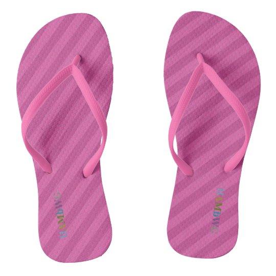 HAMbyWG - Flip-Flops - Pink Stripe w Multi