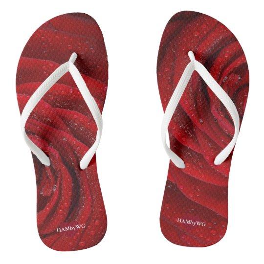 HAMbyWG - Flip-Flops - Red Rose Flip Flops
