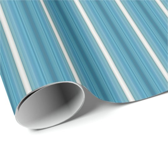 HAMbyWG - Gift Wrap - Aquamarine Gradient Stripe Wrapping Paper