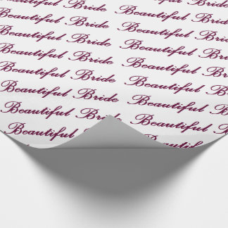 HAMbyWG - Gift Wrap - Beautiful Bride Wrapping Paper