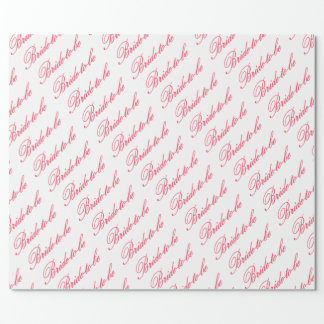 HAMbyWG - Gift Wrap - Bride-to-be Rose/White Wrapping Paper