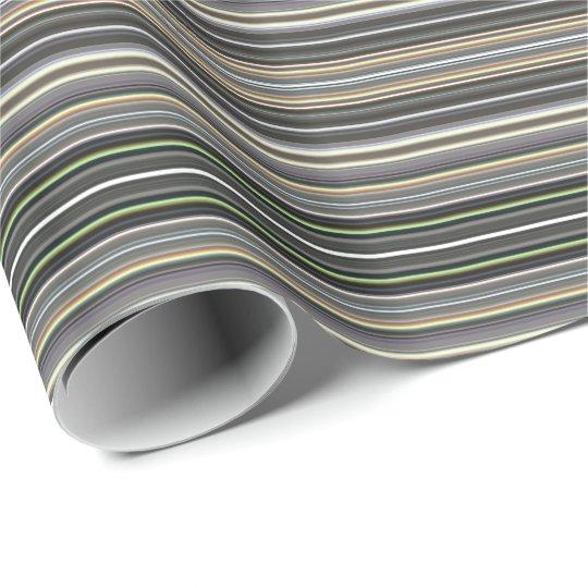 HAMbyWG - Gift Wrap - Diamond Grey Gradient Stripe Wrapping Paper