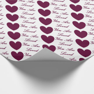 HAMbyWG - Gift Wrap - You Are Loved Wrapping Paper