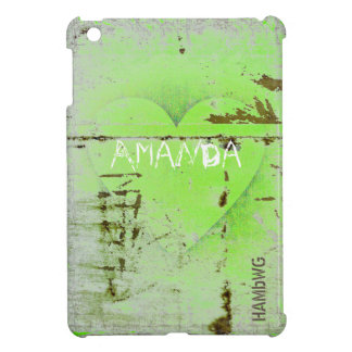 HAMbyWG -Hard Case - Distressed Heart Case For The iPad Mini