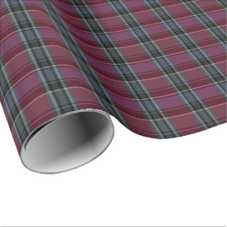 HAMbyWG - Linen Gift Wrap - Maroon/Steel Plaid Wrapping Paper