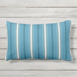 HAMbyWG - Lumbar Pillow - Aquamarine Stripes