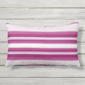 HAMbyWG - Lumbar Pillow - Magenta White Gradient
