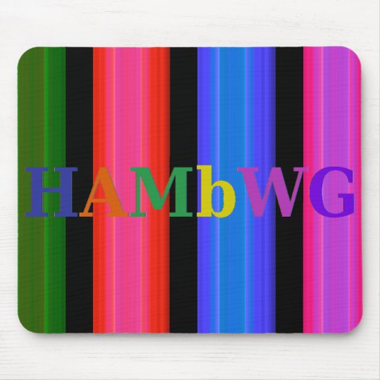 HAMbyWG - Mouse Pad - 4 Colour Glowing Stripe
