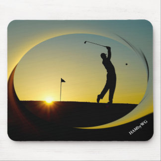 HAMbyWG - Mouse Pad - Golfer at Dusk