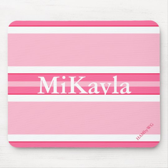 HAMbyWG - Mouse Pad - Pink Stripe